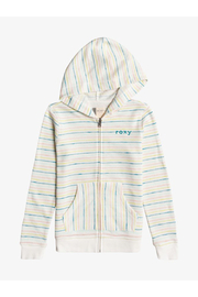 Roxy  Lighter Day Stripe Zip-Up Hoodie - Front cropped