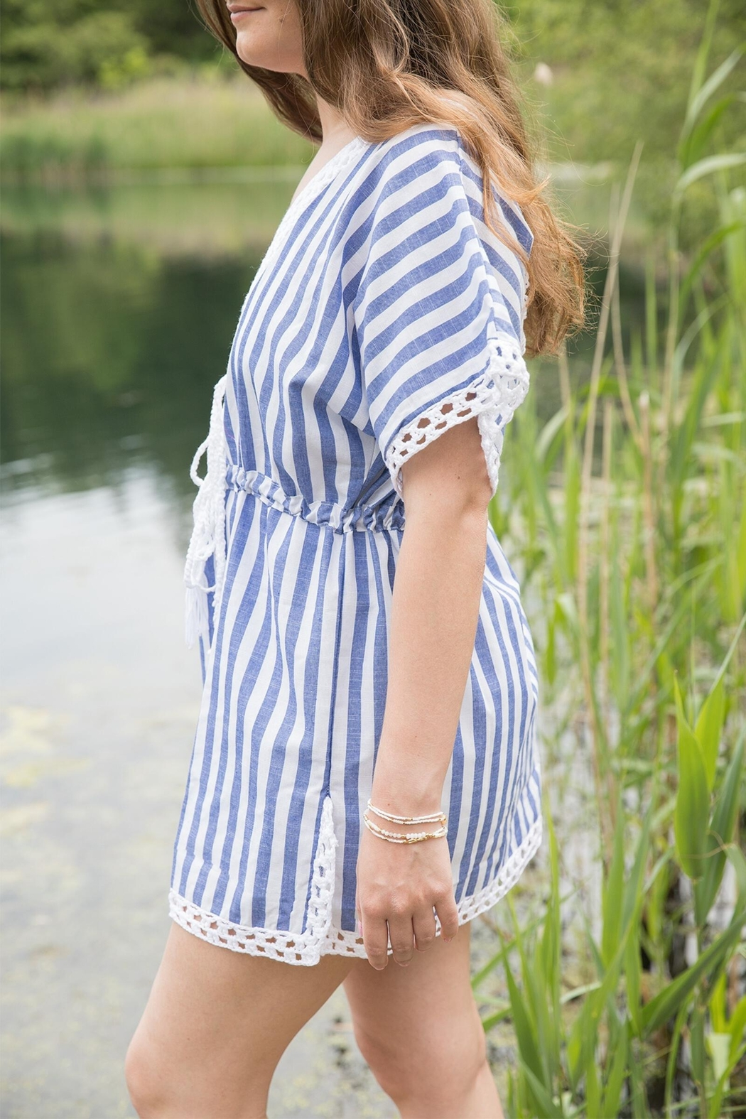 Saachi Lighthouse Bay Crochet Cover Up - Front Full Image