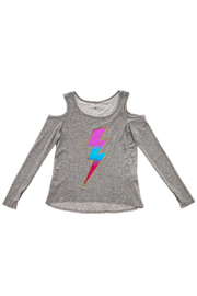 Rock Candy Lightning Bolt Thermal Top - Front cropped