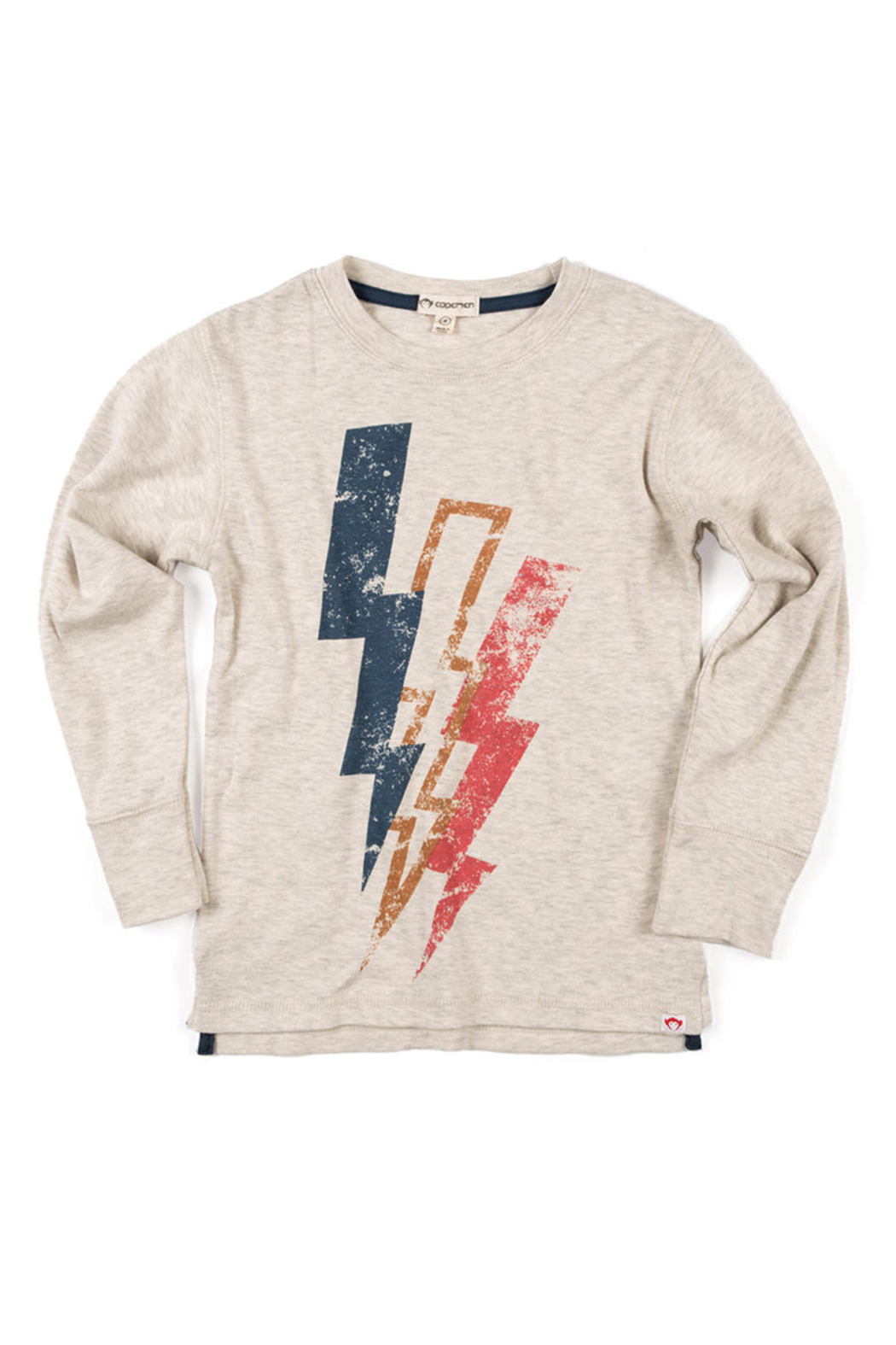 Appaman Lightning Bolt Long Sleeve Tee - Front Cropped Image