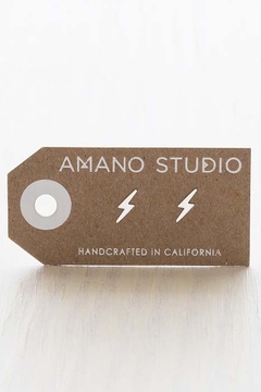 Amano Trading, Inc. lightning bolt stud earrings - Alternate List Image