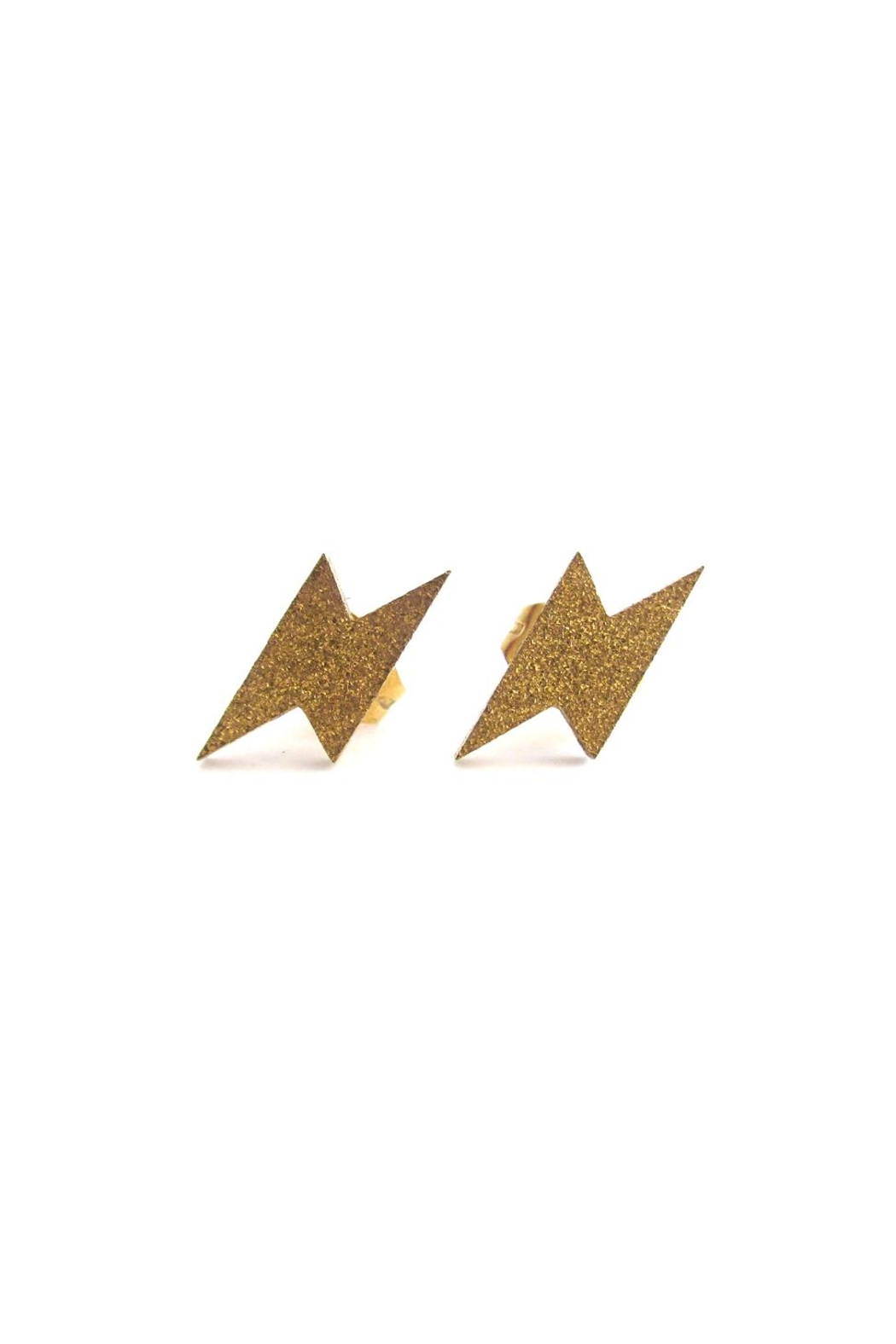 Malia Jewelry Lightning Bolt Studs - Main Image