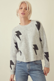 Trend Notes  Lightning Bolt Sweater - Product Mini Image