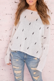 Wooden Ships Lightning Bolt Sweater - Product Mini Image