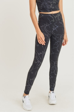 Shoptiques Product: Lightning Reflective Hi Waist Leggings