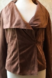 Nic + Zoe  lightweight brown suede jacket - Product Mini Image