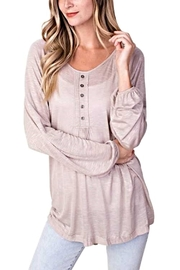 KORI AMERICA Lightweight Button Pullover - Product Mini Image