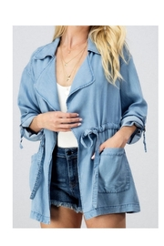 Allie & Chica Lightweight Denim Jacket - Product Mini Image