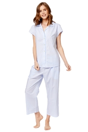 The Cat's Pajamas Lightweight Gingham Pj's - Product Mini Image