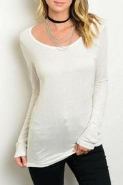Shop The Trends  Lightweight Ivory Top - Product Mini Image
