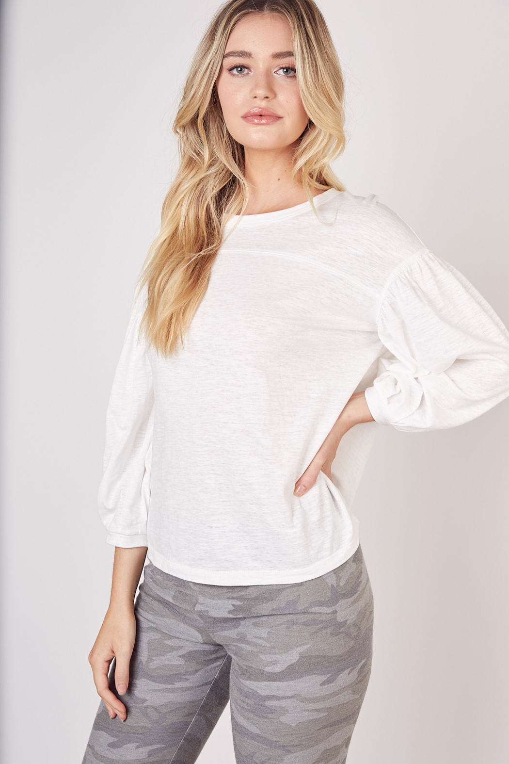 Mustard Seed  Lightweight Long Sleeve Top - Front Cropped Image