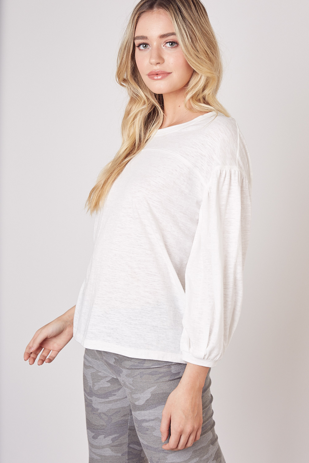 Mustard Seed  Lightweight Long Sleeve Top - Side Cropped Image