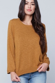 Knot Sisters Lightweight Mustard Sweater - Product Mini Image