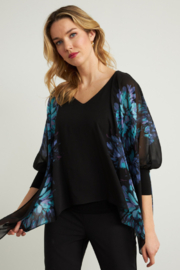 Joseph Ribkoff  Lightweight overlay top with bright floral print - Product Mini Image