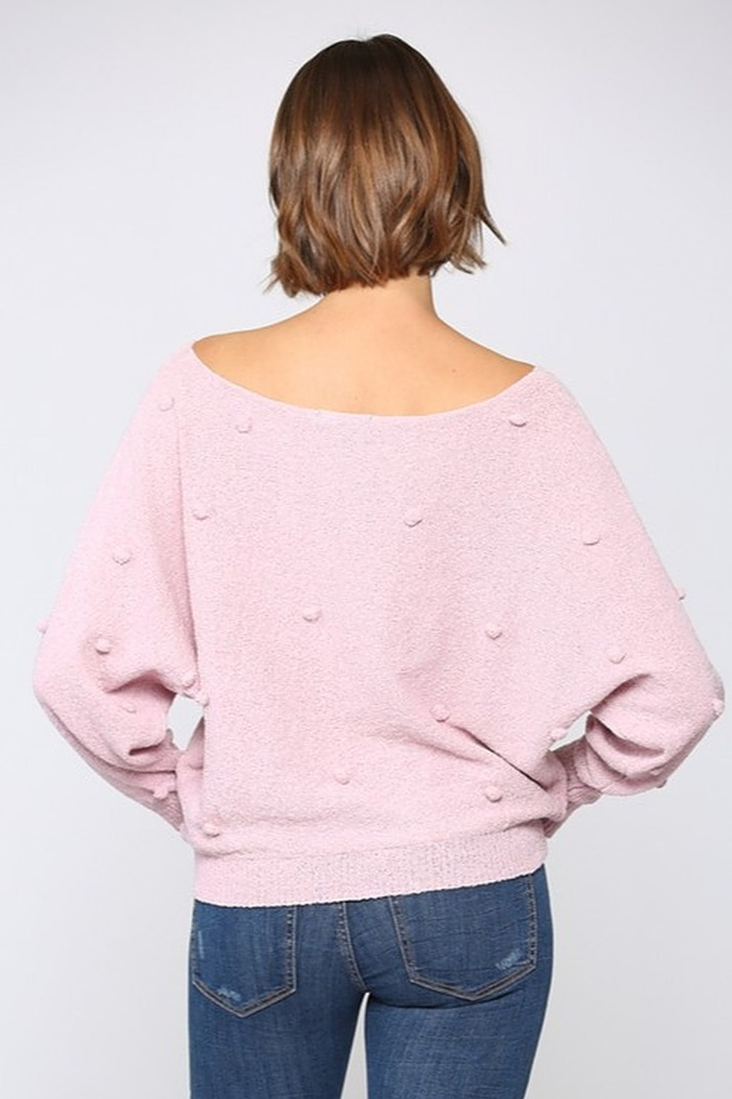 FATE by LFD Lightweight Pom Sweater - Side Cropped Image