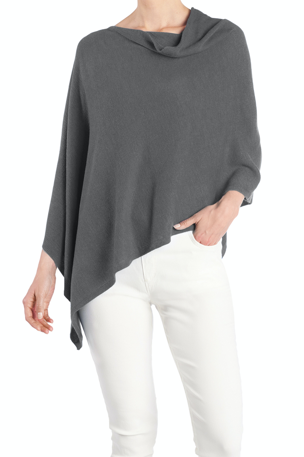 CoCo and Carmen  Lightweight Poncho - Front Cropped Image
