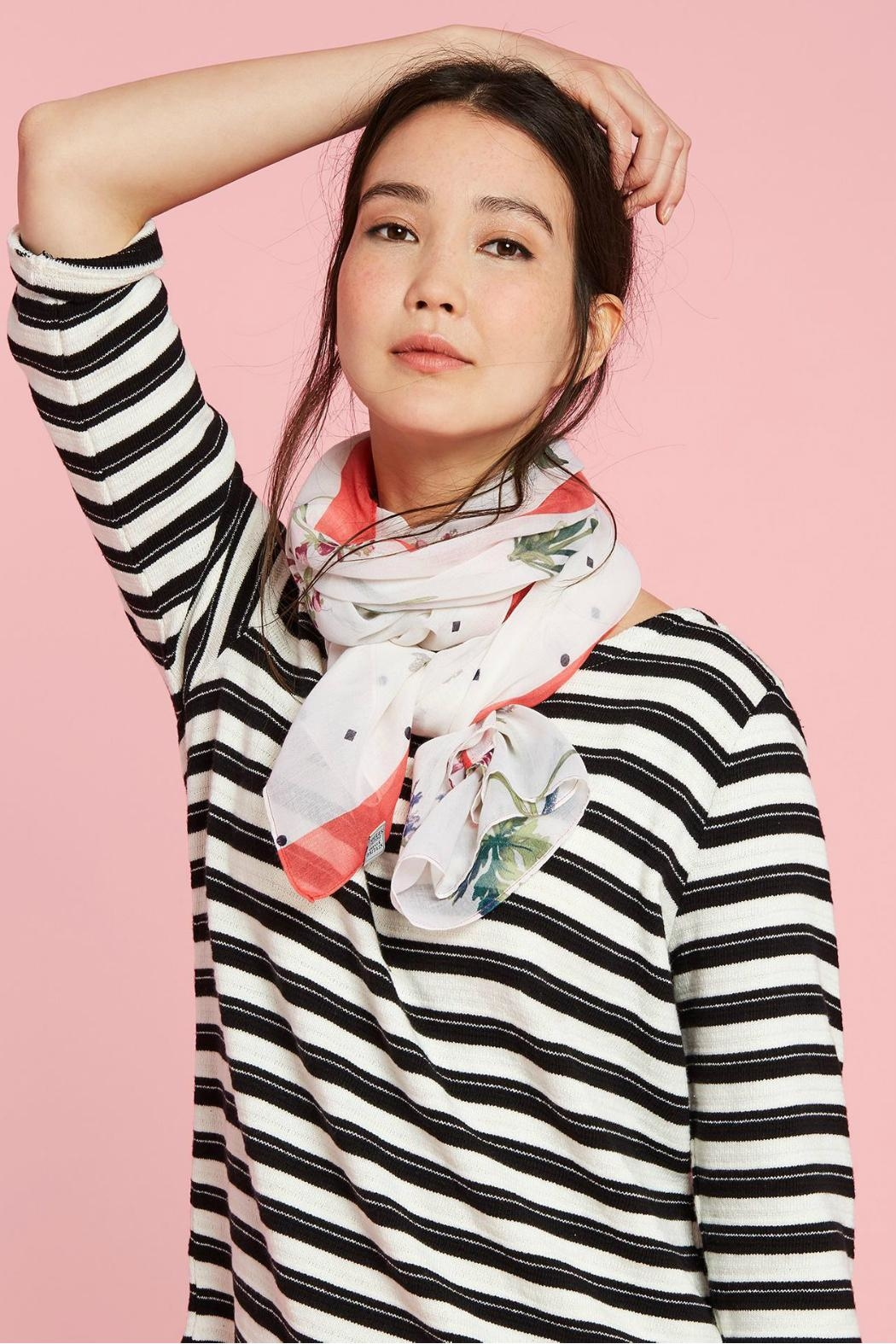 Joules Lightweight Printed Scarf - Main Image