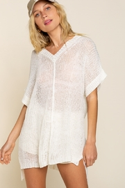 POL  Lightweight Sheer Knit V-Neck Cover Up - Product Mini Image
