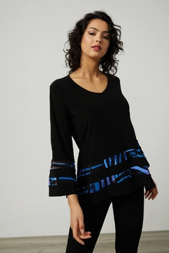 Shoptiques Product: Lightweight, silky fabric tunic with elegant bell sleeves.
