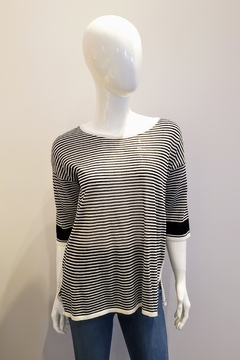 Katherine Barclay Lightweight Striped Top - Product List Image
