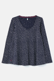 Joules Lightweight Swing V-Neck Top - Product Mini Image