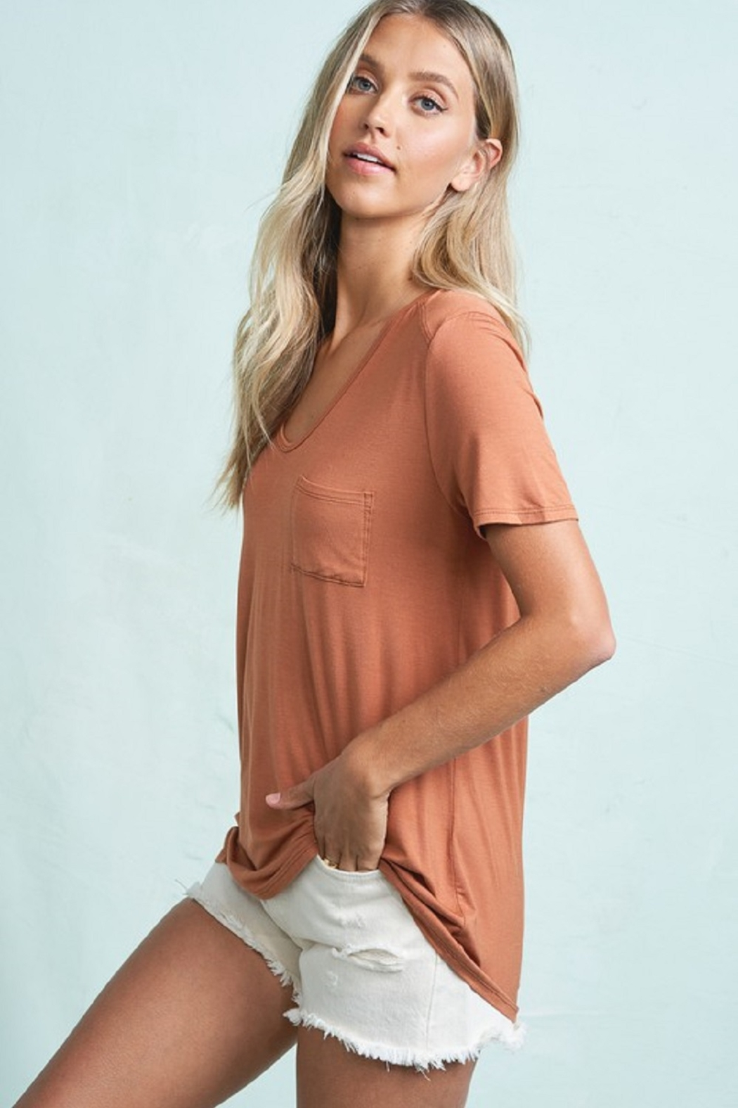 LA MIEL  Lightweight Tee - Front Full Image