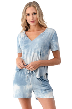 Ariella USA Lightweight Tie Dye Tee & Short Set - Alternate List Image