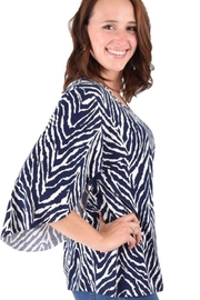 Ethyl Lightweight top with 3/4 sleeve. - Front full body