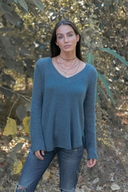 Wooden Ships Lightweight V-Neck Sweater - Product Mini Image