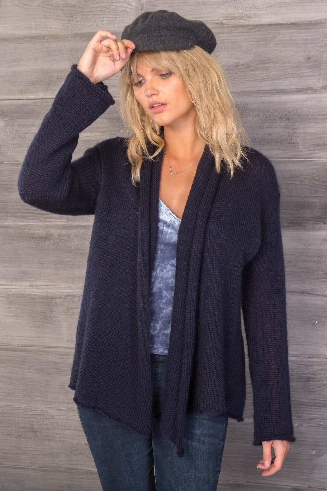 Wooden Ships Lightweight Wrap Cardigan - Front Cropped Image