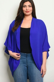 Moa Like-a-Feather Cardigan - Royal-Blue - Front cropped