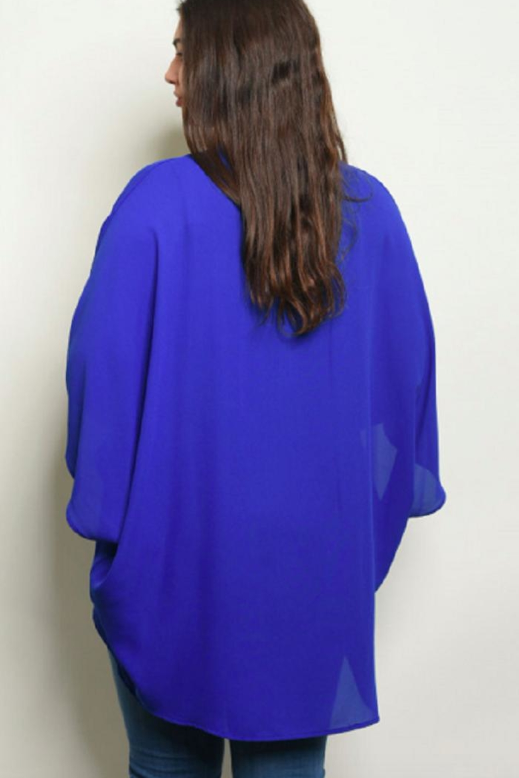 Moa Like-a-Feather Cardigan - Royal-Blue - Front Full Image