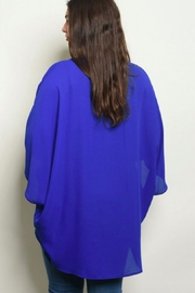 Moa Like-a-Feather Cardigan - Royal-Blue - Front full body