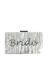 Like Dreams Bride Acrylic Clutch - Front cropped