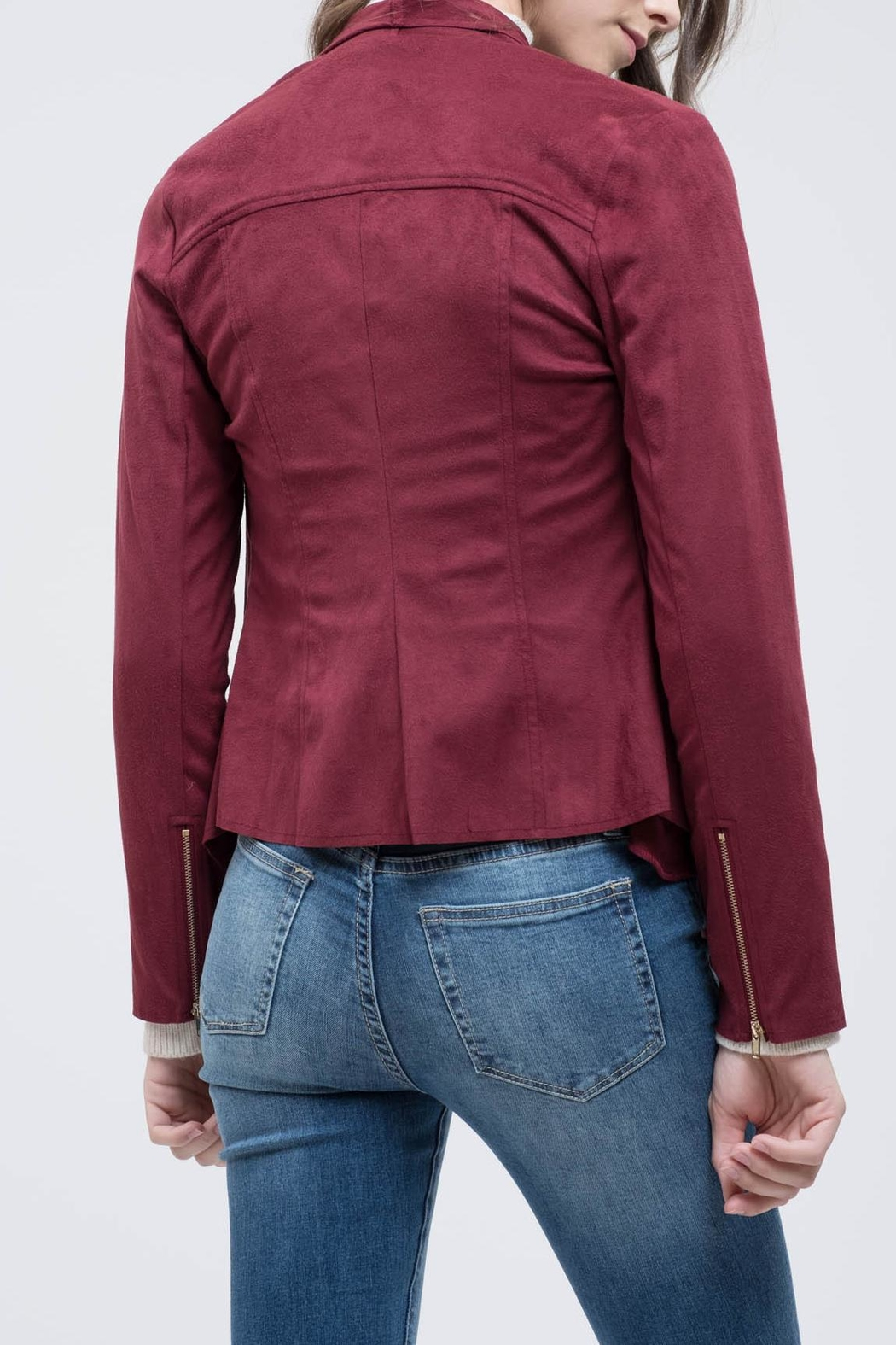 Blu Pepper Like Red-Wine Jacket - Front Full Image