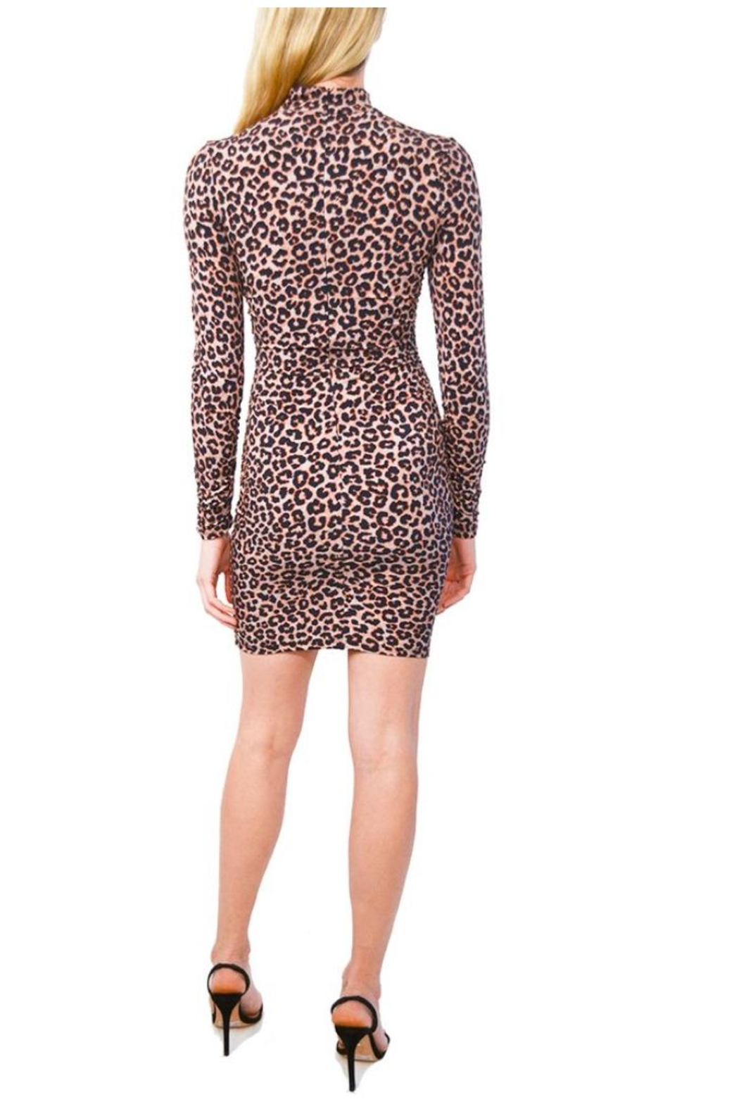 LIKELY Leopard Bali Dress - Front Full Image