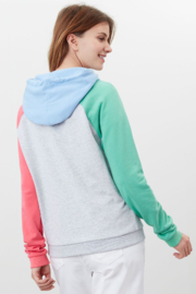 Joules Lil Colorblock Raglan Hooded Sweatshirt - Side cropped