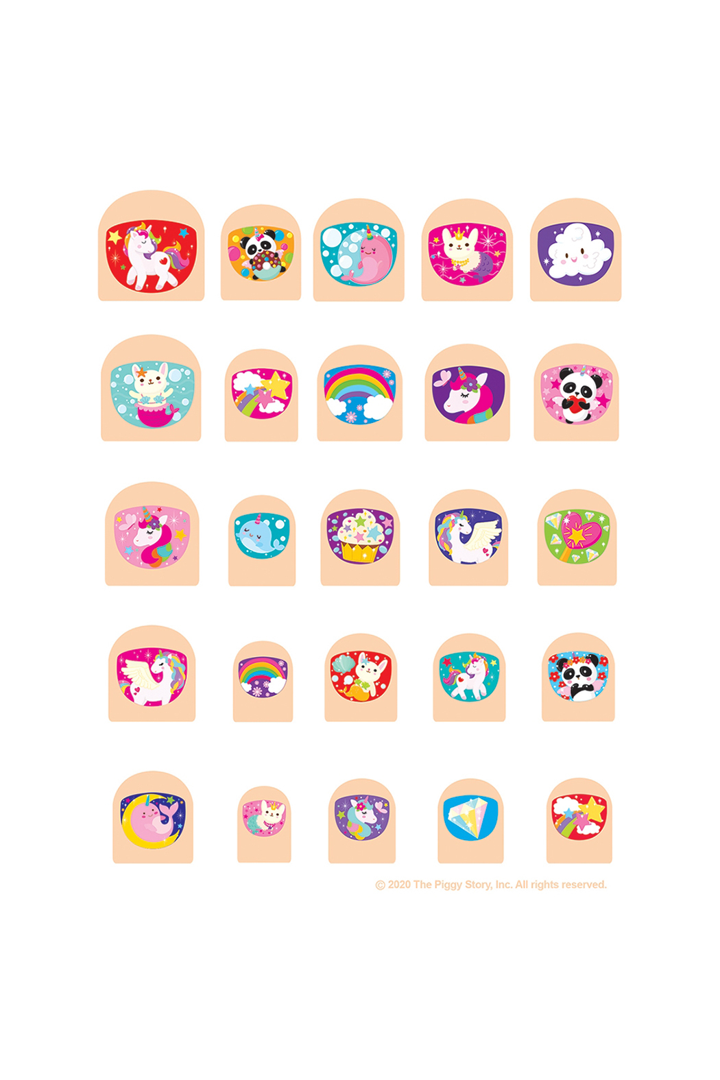Girl Nation  Lil' Fingers Nail Art - Mermaids & Friends - Front Full Image