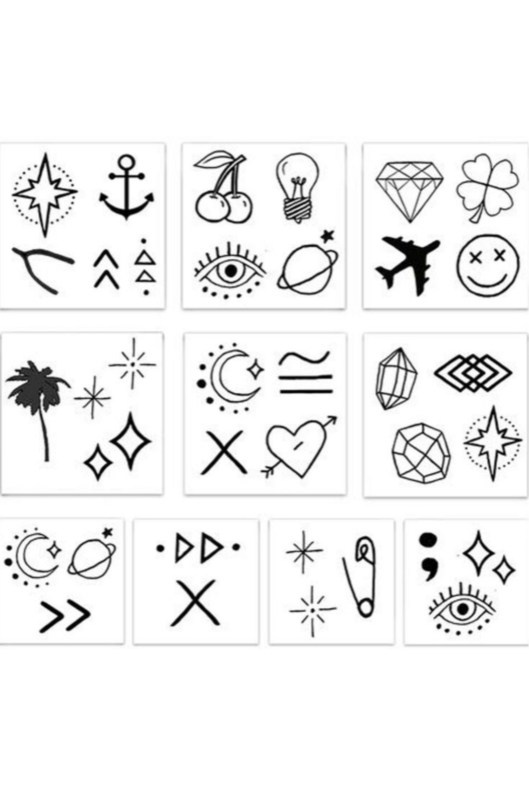 Inked by Dani Lil' Temporary Tattoo Pack - Side Cropped Image