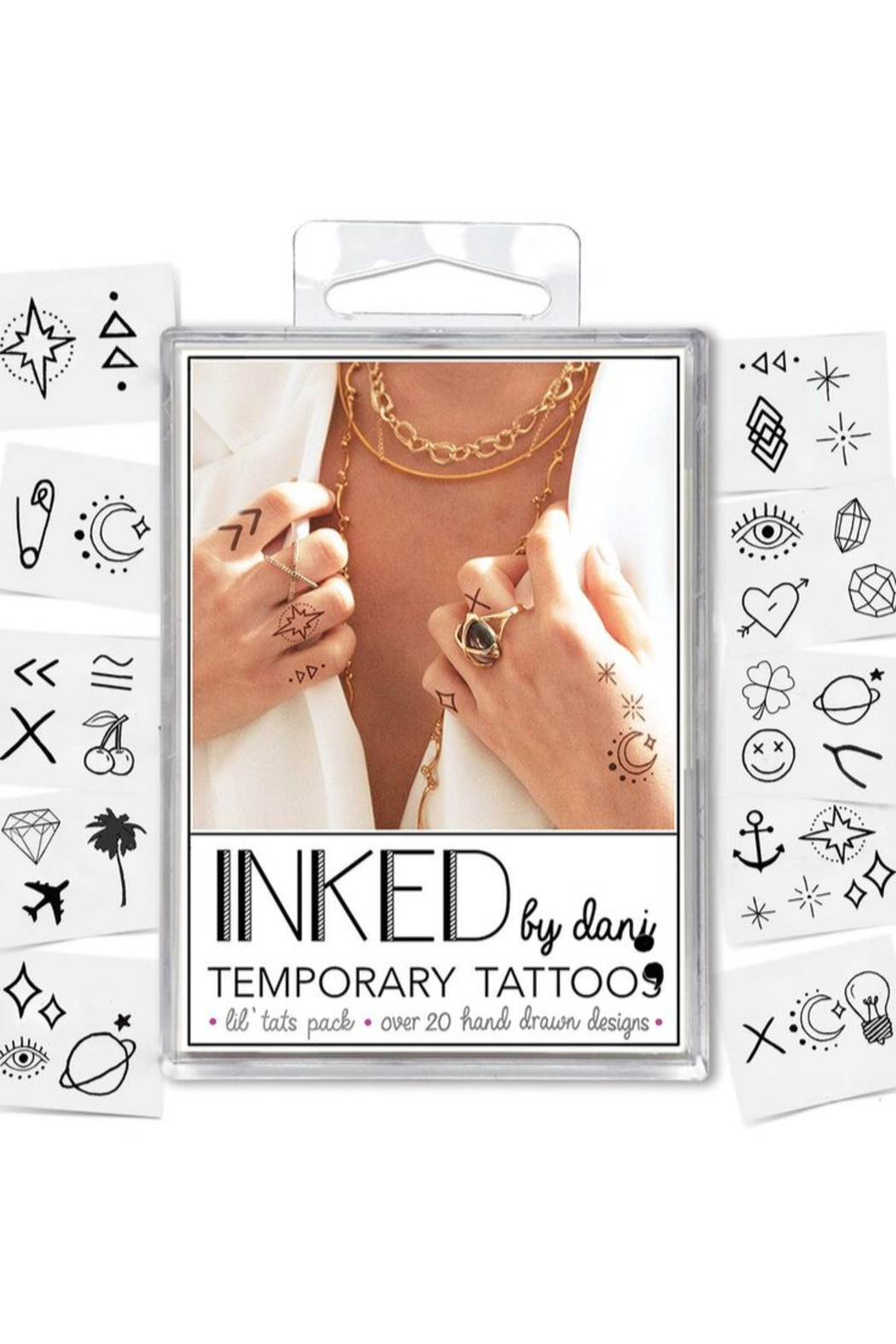 Inked by Dani Lil' Temporary Tattoo Pack - Back Cropped Image