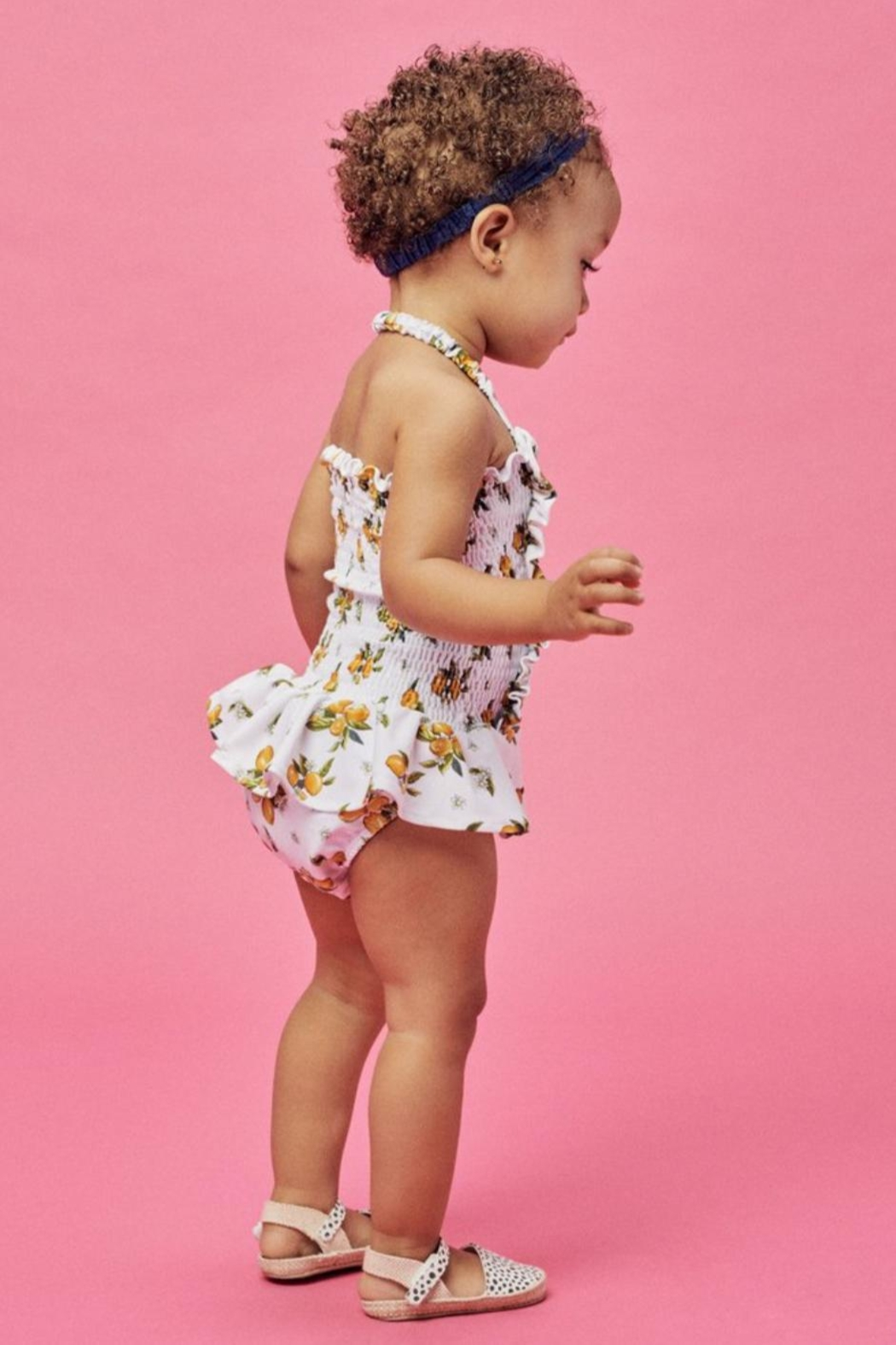 Lil Lemons Sun Kissed Swimsuit - Side Cropped Image