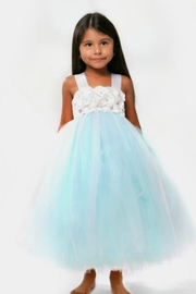 LIL MISS DRESS UP Blue Tutu Dress - Front cropped