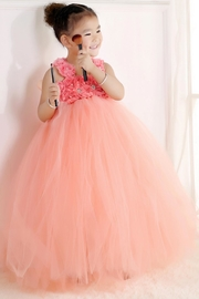 LIL MISS DRESS UP Peach Tutu Dress - Side cropped