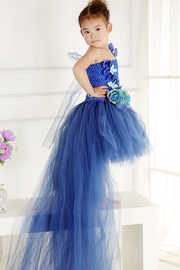 LIL MISS DRESS UP Peacock Tutu Dress - Front cropped