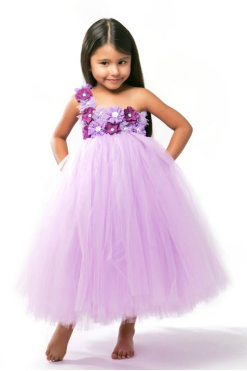 LIL MISS DRESS UP Purple Tutu Dress - Front Full Image