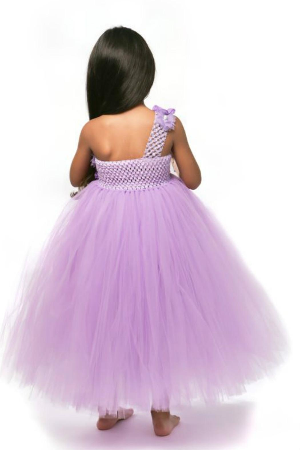 LIL MISS DRESS UP Purple Tutu Dress - Side Cropped Image