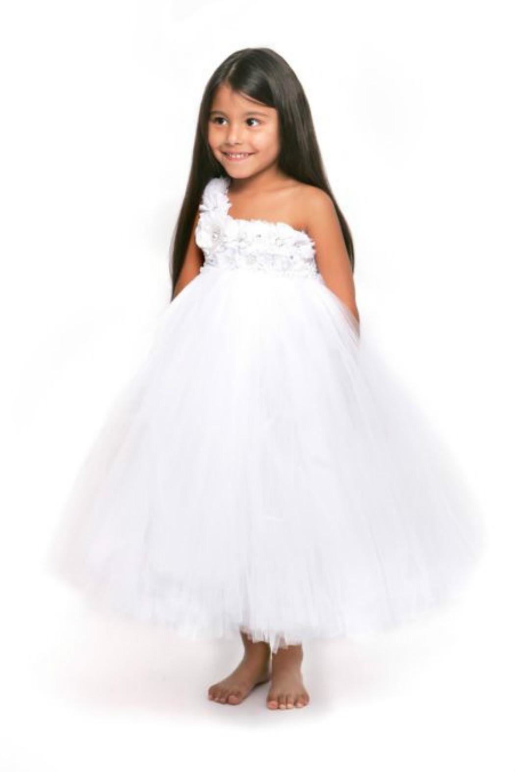 LIL MISS DRESS UP White Tutu Dress - Front Full Image