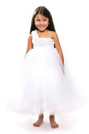 LIL MISS DRESS UP White Tutu Dress - Front cropped