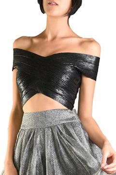 Shoptiques Product: Metallic Crop Top