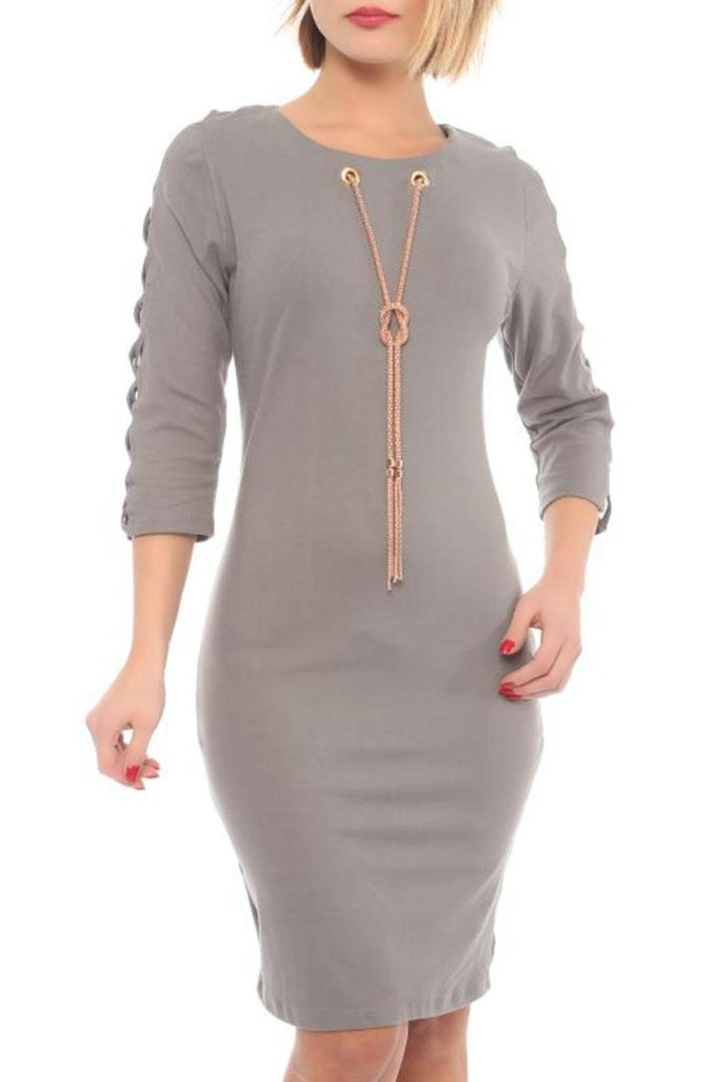 Lila Rose Fitted Dress - Main Image